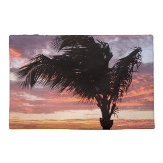 Puesta del sol pintada de la palma
