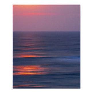 """Puesta del sol pintada folleto 4.5"""" x 5.6"""""""