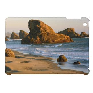 Puesta del sol, playa de Meyers, Oregon, los