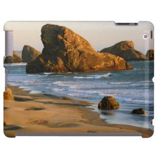 Puesta del sol, playa de Meyers, Oregon, los Funda Para iPad
