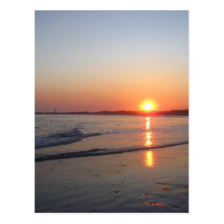 Puesta del sol * playa tarjeta postal