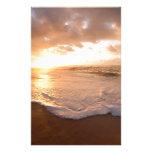 Puesta del sol Polinesia francesa de la isla de Mo Papelería