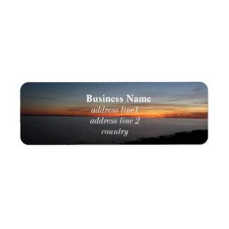 puesta del sol por el lago, Kingston, Ontario, Etiqueta De Remitente