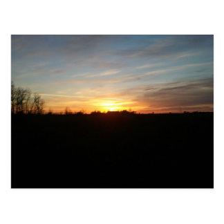 Puesta del sol por postal de Grand Forks, Dakota d