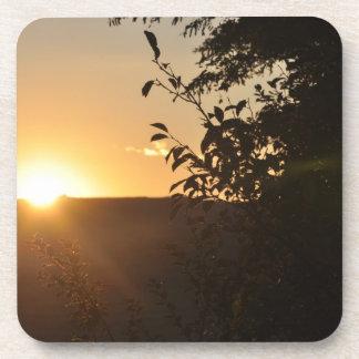Puesta del sol posavaso