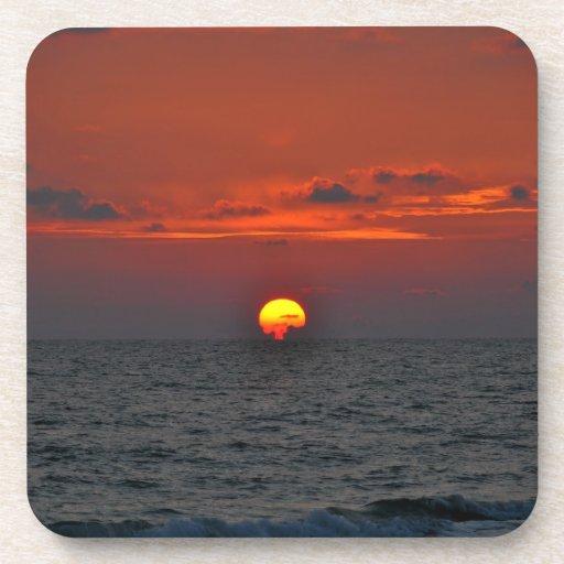 Puesta del sol posavasos
