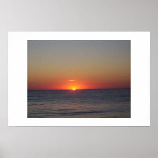 Puesta del sol póster