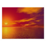 Puesta del sol posters