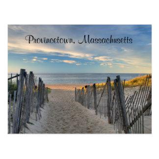 Puesta del sol Provincetown, postal de Cape Cod de