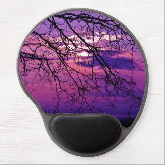 Puesta del sol púrpura alfombrillas con gel