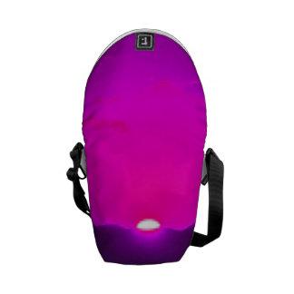 Puesta del sol púrpura bolsas de mensajería