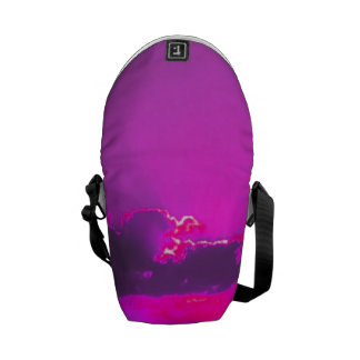 Puesta del sol púrpura bolsa messenger