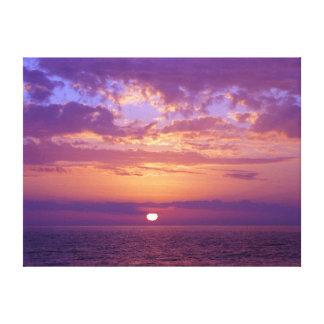 Puesta del sol púrpura de la Florida Lienzo Envuelto Para Galerías