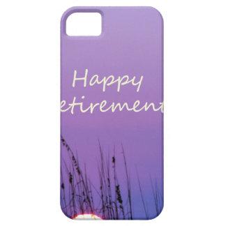 Puesta del sol púrpura de la playa del retiro feli iPhone 5 fundas