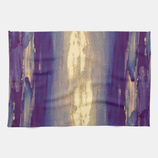 Puesta del sol púrpura del oro de Scape del océano Toallas De Cocina
