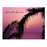 Puesta del sol púrpura del paraíso de la Santa Luc Postales