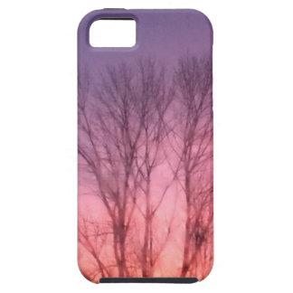 Puesta del sol púrpura iPhone 5 carcasa