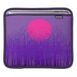 Puesta del sol púrpura mangas de iPad