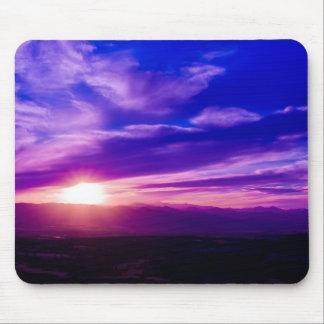 Puesta del sol púrpura Mousepad