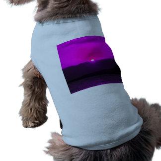 Puesta del sol púrpura ropa macota