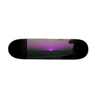 puesta del sol púrpura tablas de skate