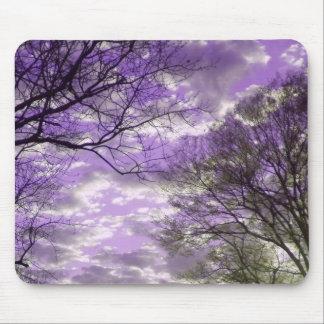 Puesta del sol púrpura tapete de raton