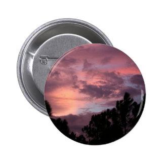Puesta del sol púrpura y rosada de la Florida sobr Pin Redondo 5 Cm