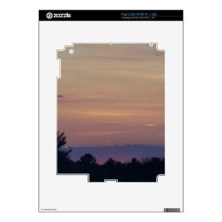 Puesta del sol purpurina abajo de la carretera skins para iPad 2