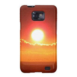 Puesta del sol radiante del Hawaiian del rojo y Galaxy S2 Funda