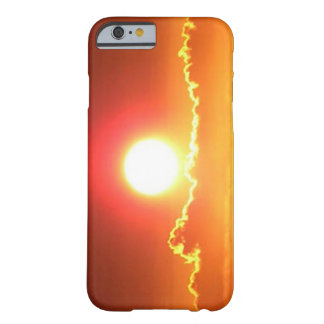 Puesta del sol radiante del Hawaiian del rojo y Funda Barely There iPhone 6