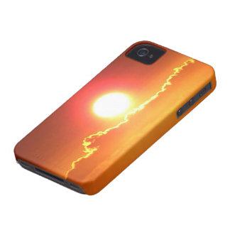 Puesta del sol radiante del Hawaiian del rojo y Funda Para iPhone 4