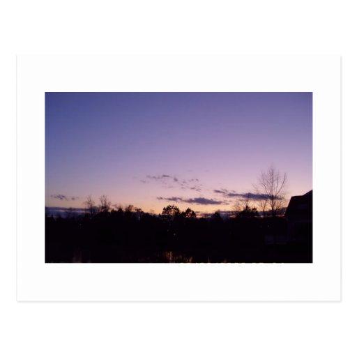 Puesta del sol Raleigh Carolina del Norte de la Postales