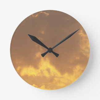 Puesta del sol reloj de pared