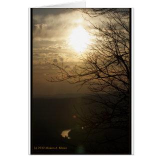 Puesta del sol: Río de Shenandoah de la impulsión Felicitaciones