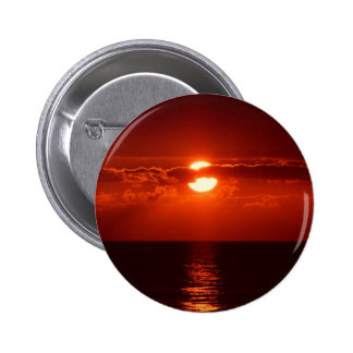 Puesta del sol roja hermosa pin