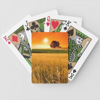 Puesta del sol roja sangre cartas de juego