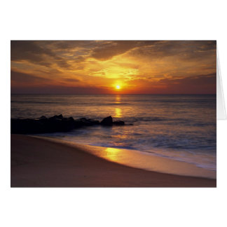 Puesta del sol romántica felicitacion