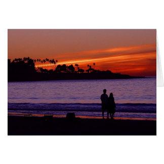 Puesta del sol romántica Notecard