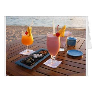 puesta del sol romántica tarjeta de felicitación