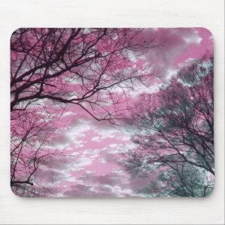 Puesta del sol rosada alfombrilla de raton