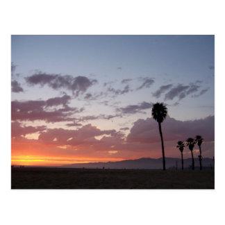 puesta del sol: Santa Mónica, Ca Postal
