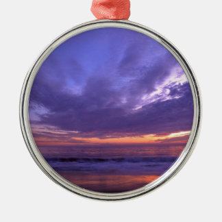 Puesta del sol Seabright Santa Cruz California Ornaments Para Arbol De Navidad