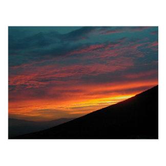 Puesta del sol septentrional de Nevada Tarjeta Postal