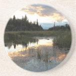 Puesta del sol septentrional de Ontario Posavasos Personalizados