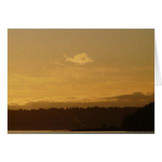 Puesta del sol sobre Bainbridge Tarjeta De Felicitación