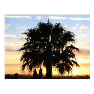 Puesta del sol sobre el Algarve, Portugal Tarjeta Postal