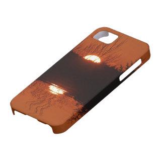 Puesta del sol sobre el caso del iPhone 5 del Funda Para iPhone SE/5/5s