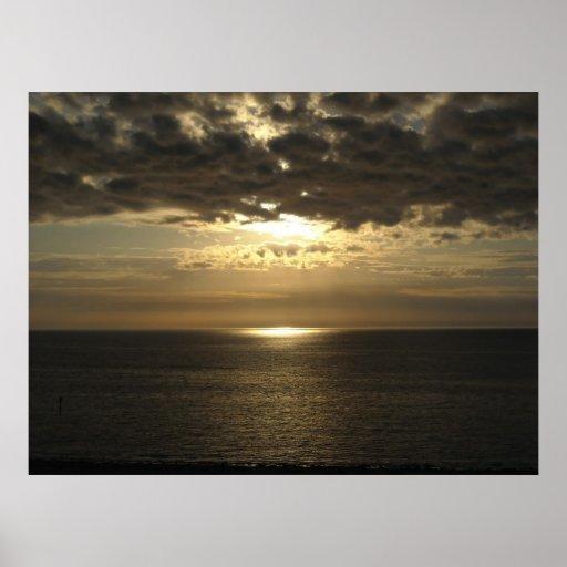 Puesta del sol sobre el Golfo de México Posters