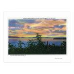 Puesta del sol sobre el lago, Adirondack Mts Postales