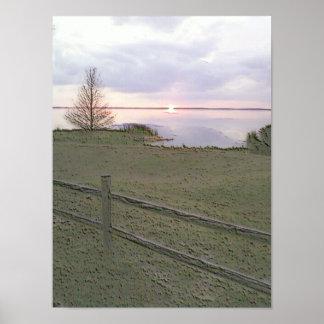 """""""Puesta del sol sobre el lago Erie"""" en poster"""